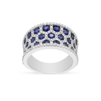 14k_white_gold_sapphire_&_diamond_honeycomb_3_row_ring