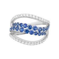 14K_White_Gold_Set_of_2_Sapphire_and_Diamond_Swirl_Rings
