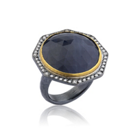 lika_behar_24k_yellow_gold_&_oxidized_sterling_silver_rose_cut_sapphire_&_diamond_ring