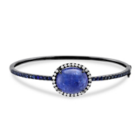 18K_White_Gold_Tanzanite,_Sapphire_and_Diamond_Bracelet