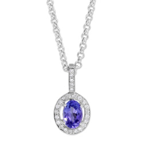 14K_White_Gold_Oval_Tanzanite_and_Round_Diamond_Pendant