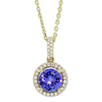 14K_Yellow_Gold_Tanzanite_and_Diamond_Pendant