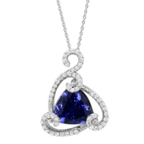 18K_White_Gold_Trillion_Tanzanite_and_Round_Diamond_Pendant