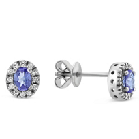 14K_White_Gold_Oval_Tanzanite_and_Round_Diamond_Earrings