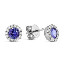 14K_White_Gold_Round_Tanzanite_and_Diamond_Earrings