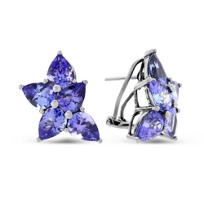 18K_White_Gold_Tanzanite_Cluster_Earrings