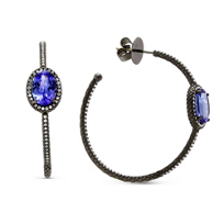 18K_WHite_Gold_Tanzanite_and_Diamond_Hoop_Earrings