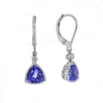 14k_white_gold_checkerboard_trillion_tanzanite_&_diamond_milgrain_bezel_drop_earrings
