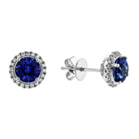 14k_white_gold_round_tanzanite_&_diamond_halo_post_earrings