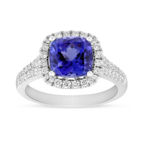 14K_White_Gold_Cushion_Tanzanite_and_Round_Diamond_Halo_Ring