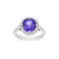 18K_White_Gold_Round_Tanzanite_and_Diamond_Halo_Ring