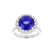 18k_white_gold_round_tanzanite_&_diamond_milgrain_scalloped_halo_ring