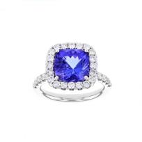 18k_white_gold_cushion_tanzanite_&_diamond_frame_ring