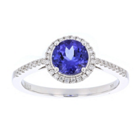 14k_white_gold_round_tanzanite_&_diamond_halo_ring