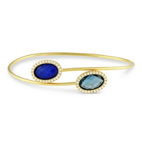 18K_Yellow_Gold_Blue_Topaz,_Lapis,_Quartz_&_Diamond_Bracelet