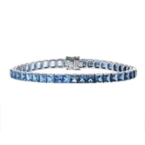 14k_white_gold_square_blue_topaz_tennis_bracelet,_7""