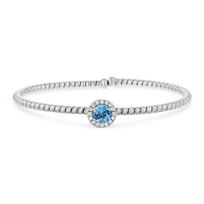 18k_white_gold_diamond_halo_and_blue_topaz_flexible_cuff_bracelet