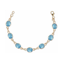 14k_yellow_gold_checkerboard_oval_blue_topaz_bezel_set_link_bracelet,_7.5""