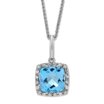 14K_White_Gold_Cushion_Blue_Topaz_and_Round_Diamond_Frame_Pendant
