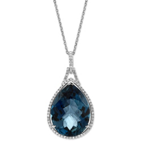 14K_White_Gold_Blue_Topaz_and_Diamond_Pendant