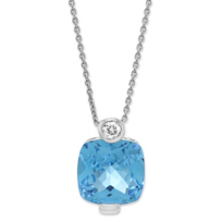 14K_White_Gold_Cushion_Blue_Topaz_and_Round_Diamond_Pendant