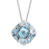 14K_White_Gold_Multicolor_Blue_Topaz_and_Diamond_Pendant