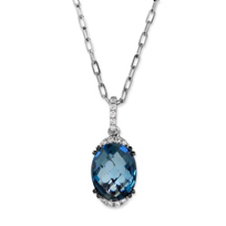 14K_White_Gold_Oval_Blue_Topaz_and_Round_Diamond_Pendant