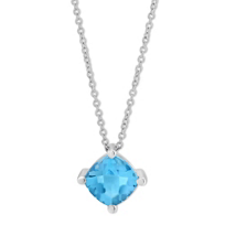 14K_White_Gold_Cushion_Buff_Top_Blue_Topaz_Pendant,_18""