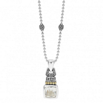 Lagos_Sterling_Silver_&_18K_Yellow_Gold_Color_Caviar_White_Topaz_Pendant