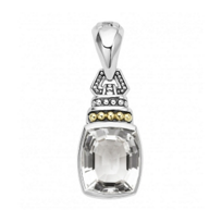 Lagos_Sterling_Silver_and_18K_Yellow_Gold_Cushion_Cut_White_Topaz_Color_Caviar_Clip_Pendant