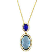 18K_Yellow_Gold_Blue_Topaz__With_Lapis_&_Quartz_Doublet_&_Diamond_Necklace