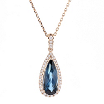 14k_rose_gold_pear_shaped_checkerboard_blue_topaz_&_diamond_pendant
