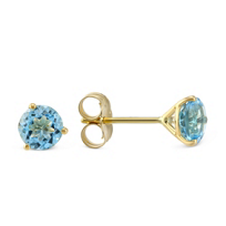 14K_Yellow_Gold_Blue_Topaz_Stud_Earrings
