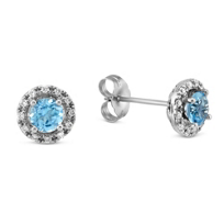 14K_White_Gold_Round_Blue_Topaz_and_Round_Diamond_Halo_Earrings