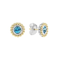 Lagos_Signature_Color_Sterling_Silver_&_18K_Yellow_Gold_Blue_Topaz_Earrings