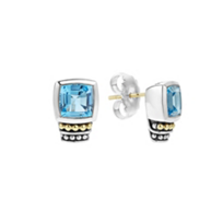 Lagos_Sterling_Silver_&_18K_Yellow_Gold_Blue_Topaz_Caviar_Color_Gemstone_Stud_Earrings