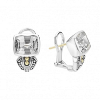 Lagos_Sterling_Silver_&_18K_Yellow_Gold_Caviar_Color_White_Topaz_Short_Earrings