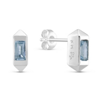 Sterling_Silver_Baguette_Blue_Topaz_Earrings