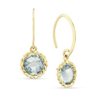 14K_Yellow_Gold_Round_Checkerboard_Blue_Topaz_Twisted_Bezel_Earrings