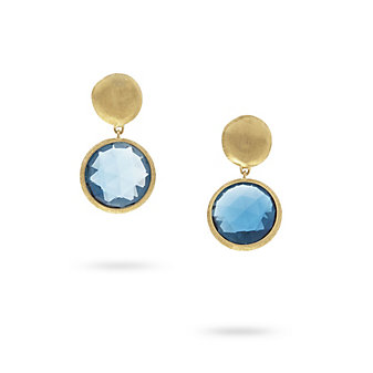 marco bicego 18k yellow gold blue topaz jaipur drop earrings