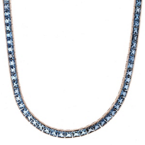"""14k_rose_gold_square_blue_topaz_necklace,_16"""""""