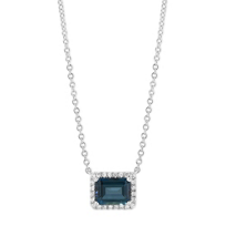 14K_White_Gold_Horizontal_Emerald_Cut_Blue_Topaz_and_Diamond_Halo_Necklace