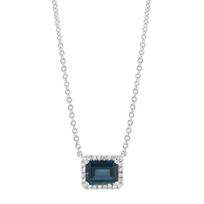 14K_White_Gold_Horizontal_Emerald_Cut_Blue_Topaz_and_Diamond_Halo_Necklace