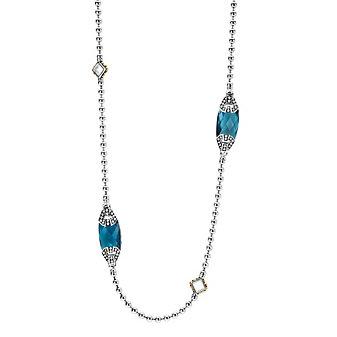 "Lagos Blue Topaz 6 Gemstone 34"" Necklace"