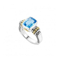 Lagos_Sterling_Silver_&_18K_Yellow_Gold_Blue_Topaz_Color_Caviar_Gemstone_Ring