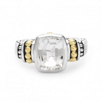 Lagos_Sterling_Silver_&_18K_Yellow_Gold_Color_Caviar_White_Topaz_Ring