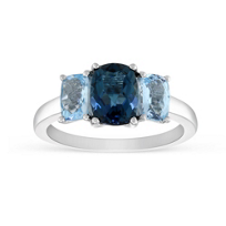 14K_White_Gold_Checkerboard_Cushion_Blue_Topaz_3_Stone_Ring