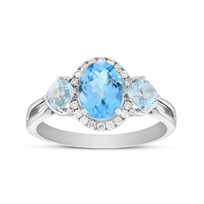 14K_White_Gold_Oval_and_Cushion_Blue_Topaz_3_Stone_Ring_with_Diamond_Halo