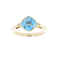 14k_yellow_gold_cushion_checkerboard_blue_topaz_&_diamond_ring_