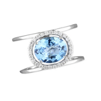 14K_White_Gold_Oval_Irradiated_Blue_Topaz_&_Diamond_Ring
